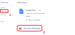 Klik Extensions lalu Get More Extensions