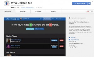 Who Deleted Me on Facebook berupa Extension Google Chrome.