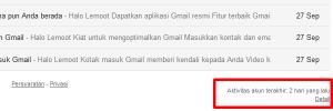 Cara logout semua login aktif gmail