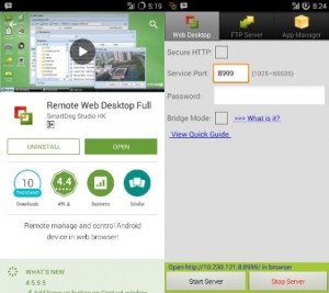 Remote Web Desktop, sangat sederhana