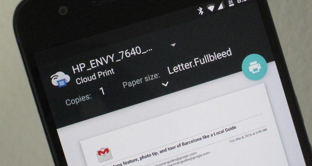 cara print dokumen dari android