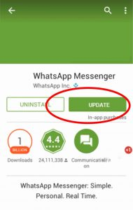 WhatsApp, update whatsapp