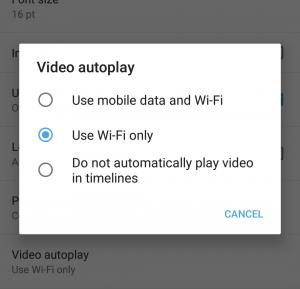 Aktifkan Preload Wifi Only