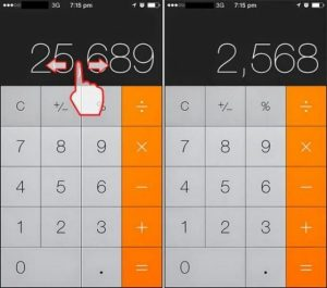 Tinggal Usap Untuk Menghapus Angka di Aplikasi Kalkulator
