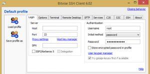 Cara Mudah Internet Gratis Menggunakan SSH Bitvise Tunnelier