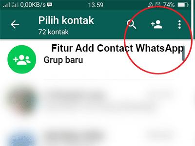 add kontak, menambahkan kontak , whatsapp
