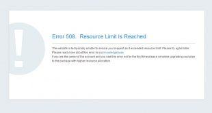 Cara Mudah Mengatasi Error 508 Resource Limit Is Reached Pada website