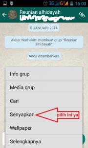 Cara Mudah Mematikan Pemberitahuan Pesan Kontak & Group Whatsapp