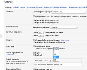 gmail batal