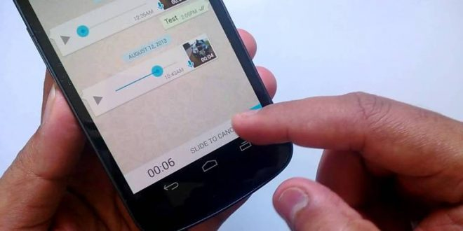 cara mudah rekam suara whatsapp