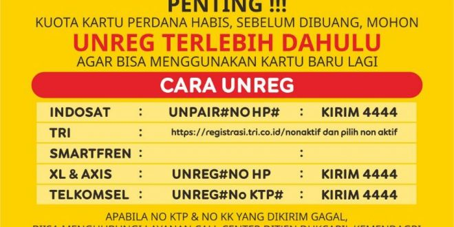 Cara Unreg Registrasi Kartu Indosat Telkomsel Three Axis Dan Xl