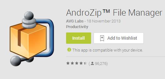 Cara Mudah Membuka File Zip dan Rar Di Smartphone Android