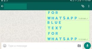 cara buat teks biru whatsapp
