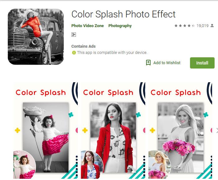 cara membuat color splash android mudah