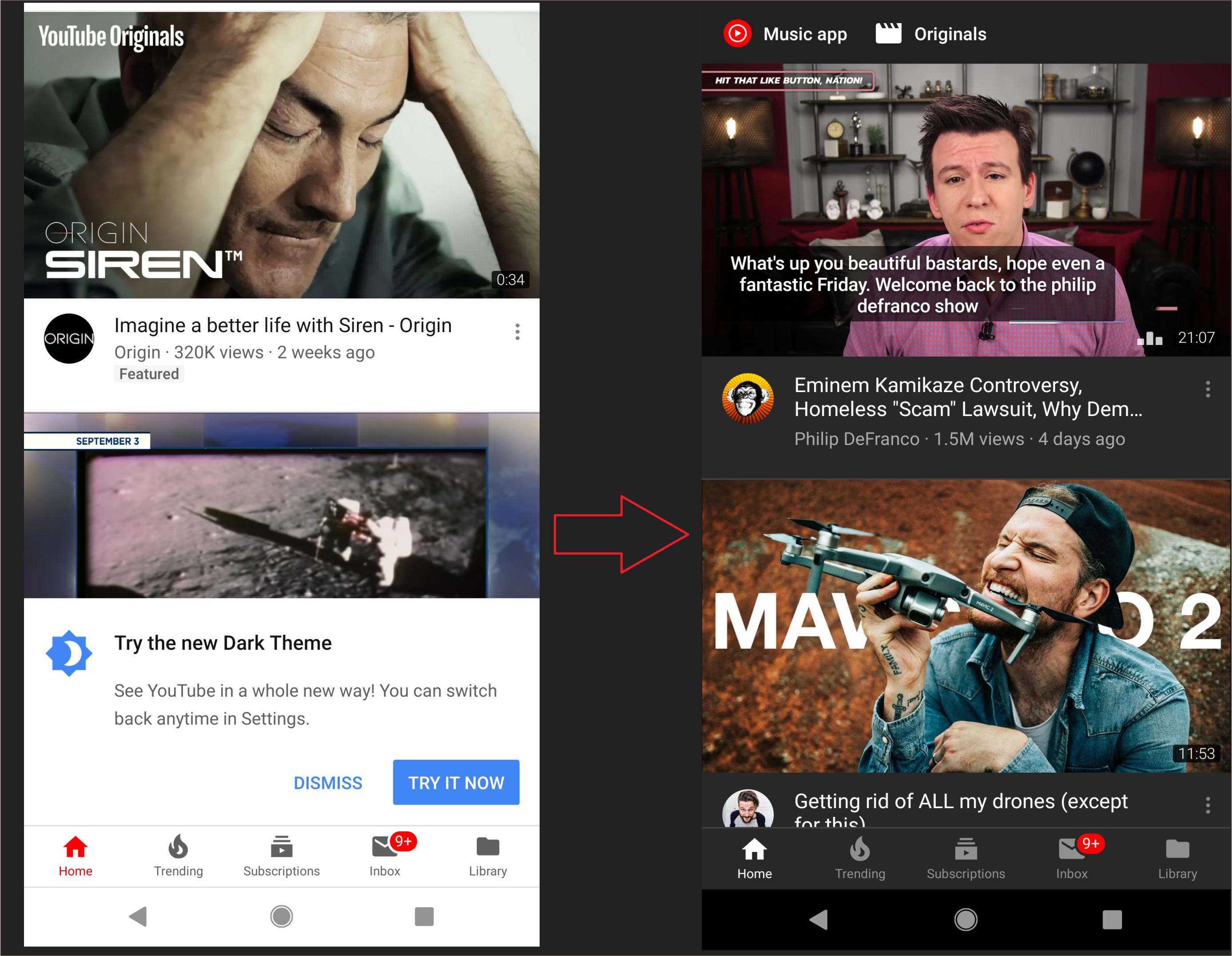 Akhirnya Dark Mode YouTube Diluncurkan