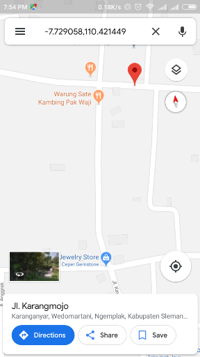 Menyimpan lokasi di Google Maps