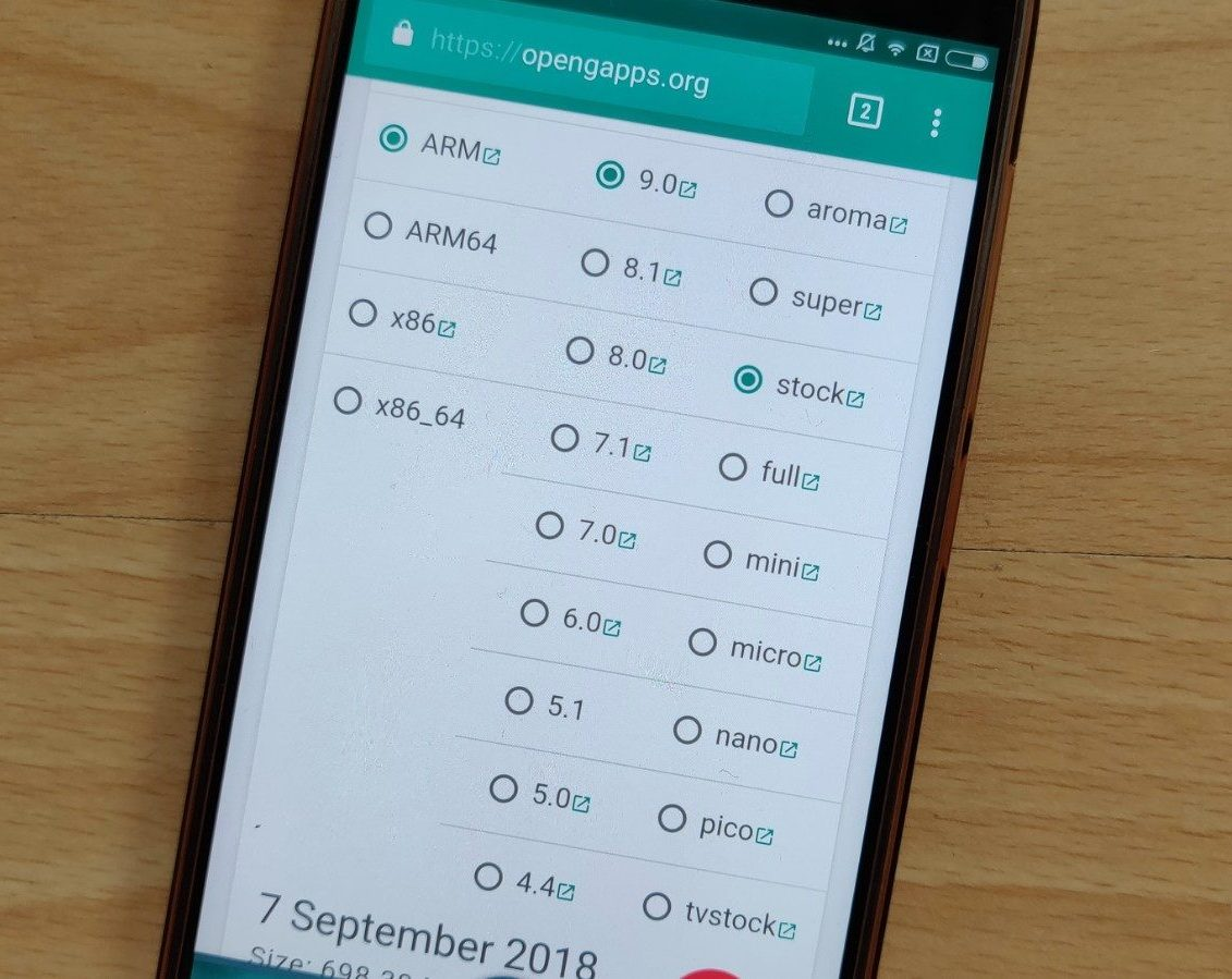 Paket GApps untuk Android 9 Pie