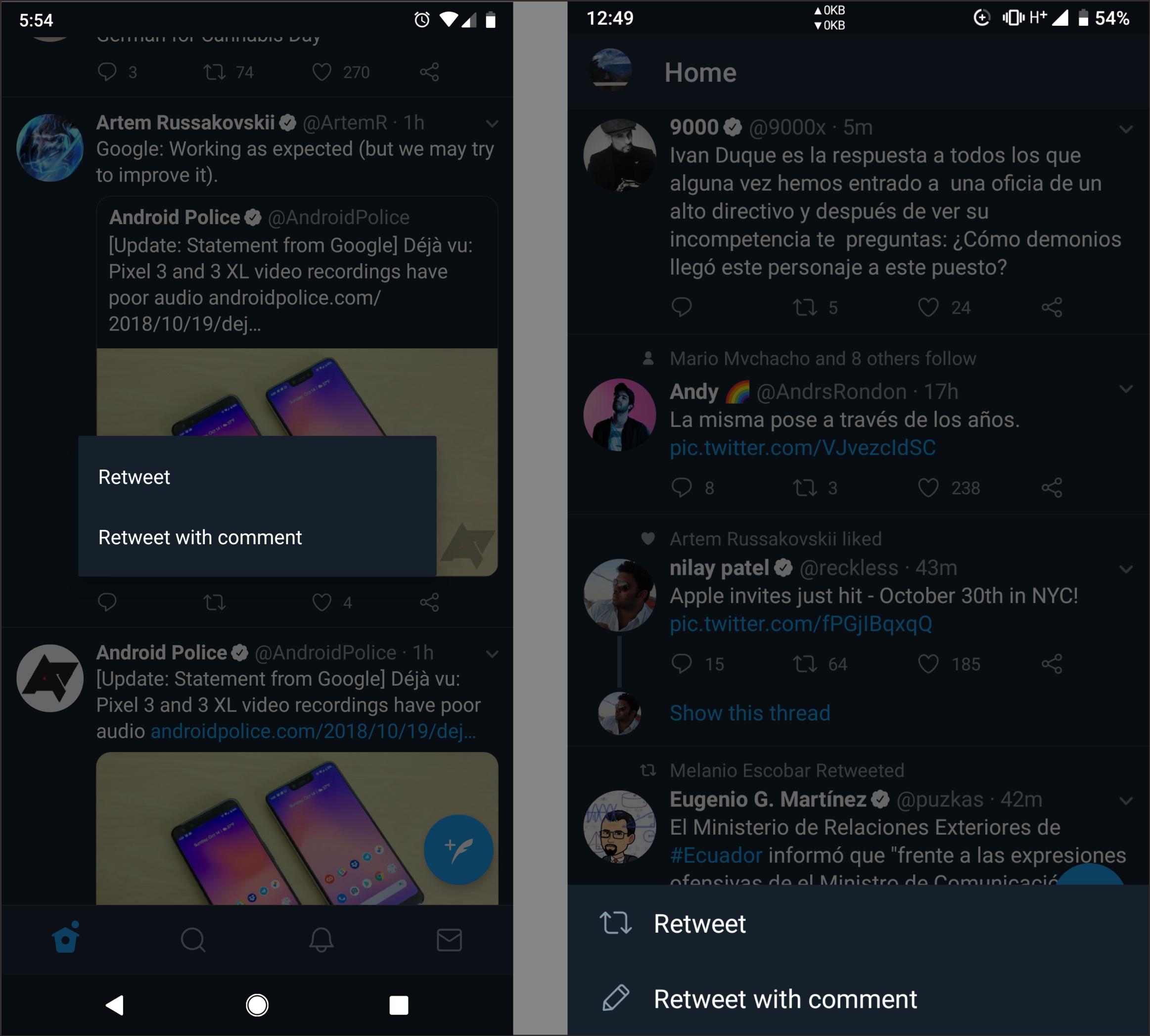 Twitter Lakukan Uji Perubahan UI Untuk Menu Retweet Untuk Lebih Dari Pada Tweet