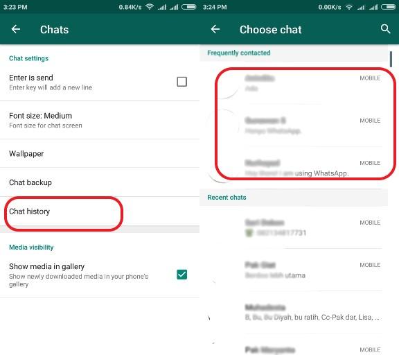 cara ketahui kontak paling sering dihubungi whatsapp