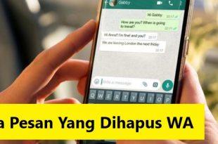 cara melihat pesan yang dihapus di whatsapp