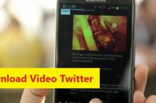 cara simpan video dari twitter