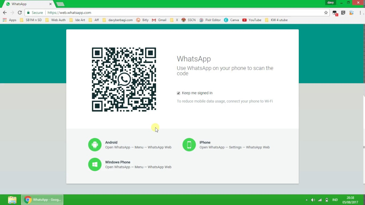 cara buka WA di laptop, whatsapp web