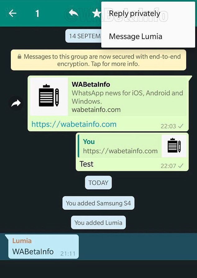 Fitur Terbaru WhatsApp untuk iOS ,Reply Private