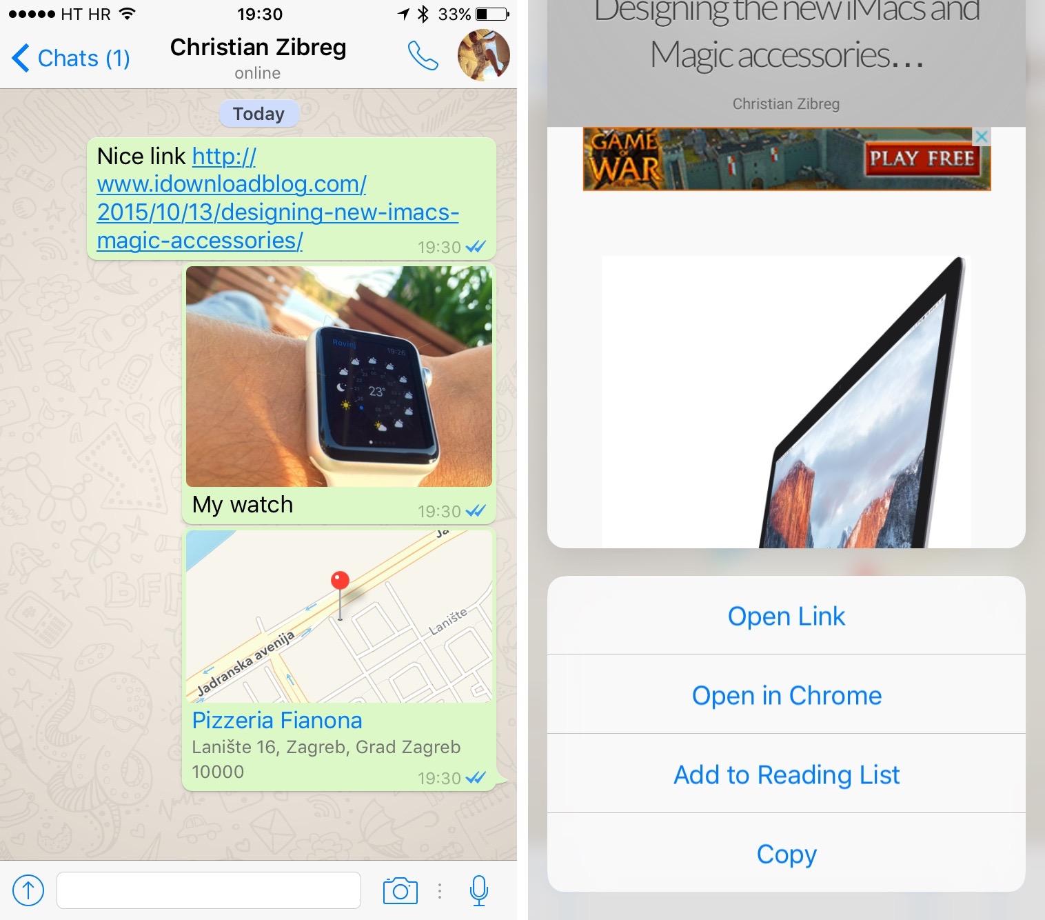 Fitur Terbaru WhatsApp untuk iOS ,Reply Private,Sentuhan 3D,touch 3D