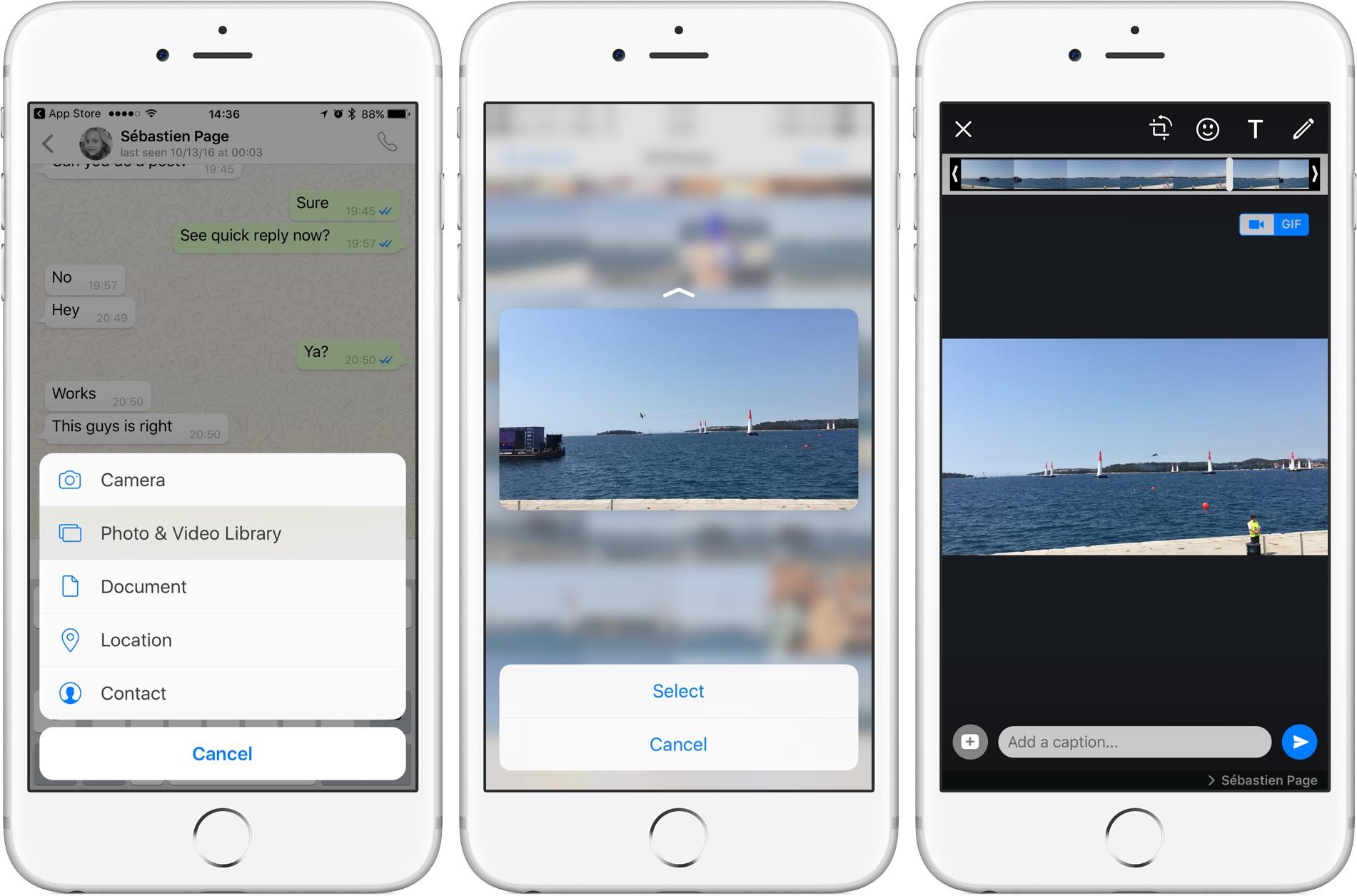 Fitur Terbaru WhatsApp untuk iOS ,Reply Private,Tambahan Stiker di Foto dan Video