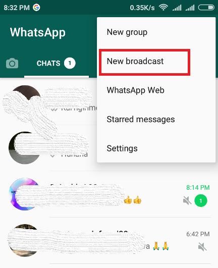 cara buat broadcast whatsapp
