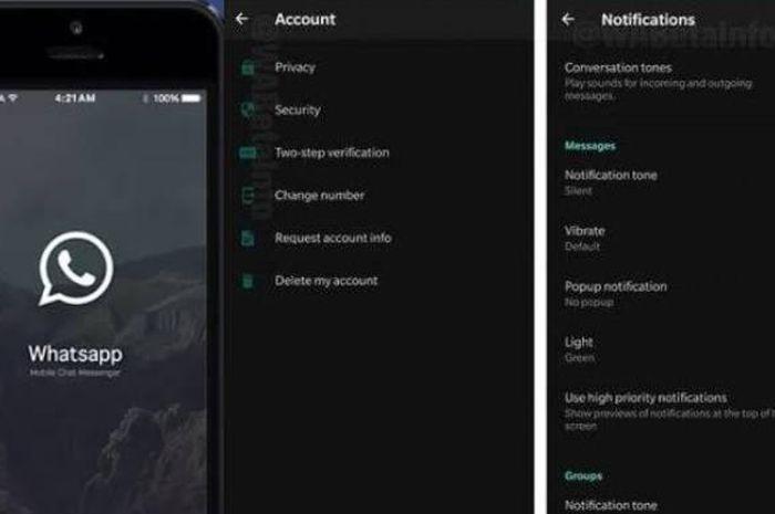 WhatsApp Luncurkan Fitur Baru Dark Mode dan Mode Hemat Baterai