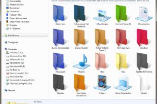 cara mewarnai folder windows